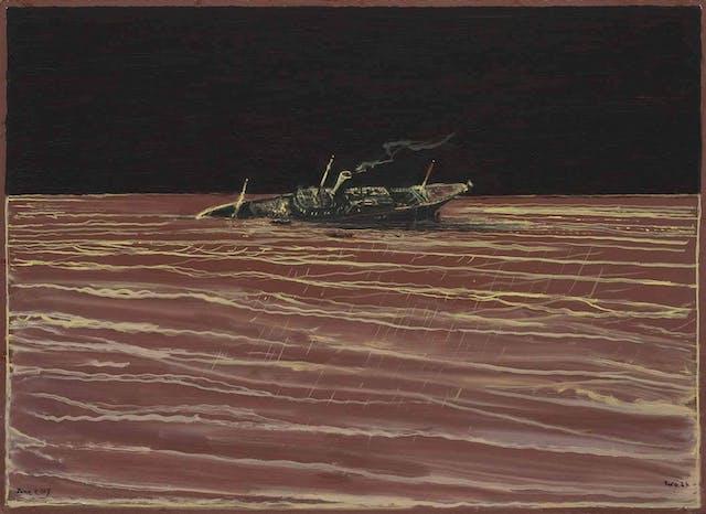 Richard Kenton Webb, Wreck, oil on board