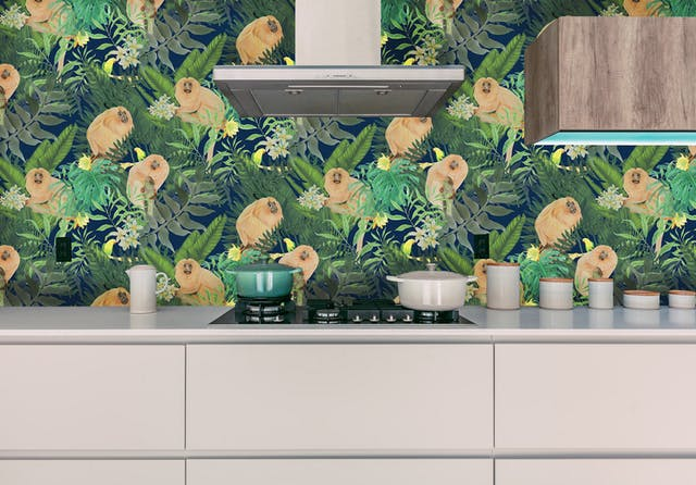 Belinda Bayley Tamarins Among The Tropics visualisation from my Paradise Lost and Found collection photograph is not my own used for visualisation purpose only Printed Textile Design and Surface Pattern