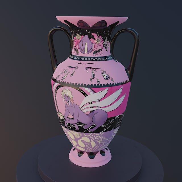 Jua O Kane Nested Universe Vase Illustration
