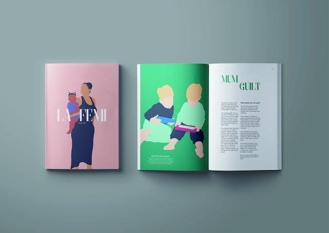 Liv beggs La Femi Magazine Graphic Design