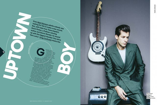 Mark Ronson for NME by award winning graduate Andy Ford