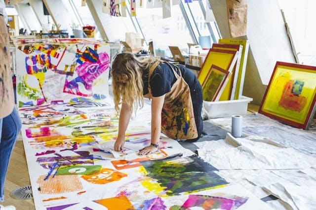 Print Club running workshops at Tate Modern as part of Tate Exchange