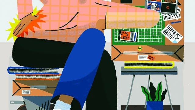 C Leadley Working From Home PRINT