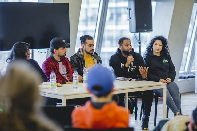 Speaking Truth To Power a panel talk at our Tate Exchange event about the power of words and the potential of rap and culture to transform pain into cultural production to create personal and social change