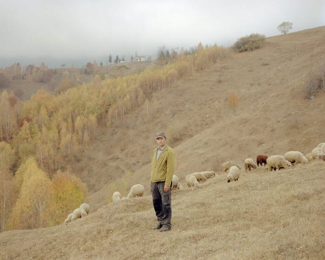 Mosu a forest ranger on his land in the village of Magura