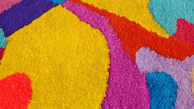 Tasseography Textiles Becky Dodman Wainwright close up texture colour