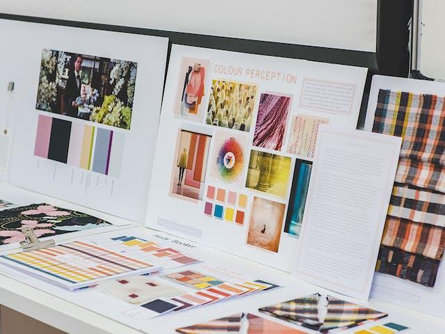 A moodboard style presentation study on colour perception web