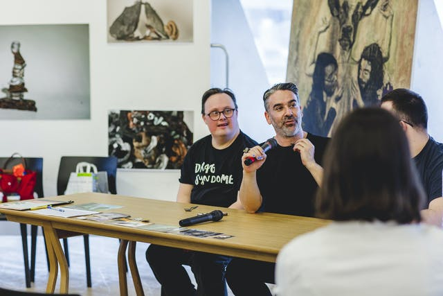 Taking place at Plymouth College of Art's Tate Exchange event, three representatives from The Radical Beauty project host a panel talk about down syndrome, beauty and representation.