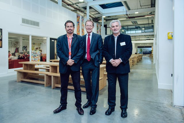 Dave Strudwick Nicholas Serota and Andrew Brewerton opening of The Red House