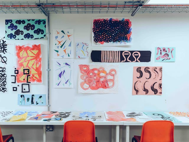 Early student work from Foundation Diploma in Art and Design students in the new Palace Studios