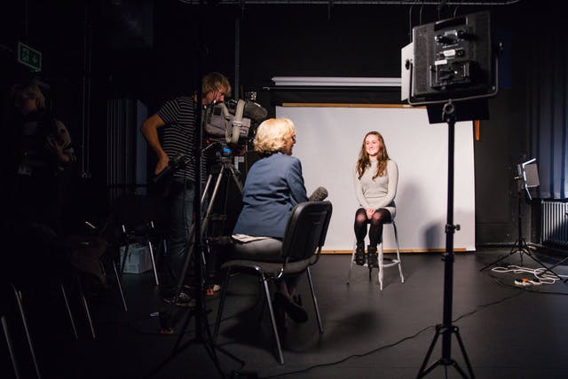 BBC Spotlight interviews student Ceri Louise Prowse during the first year of the BFI Film Academy