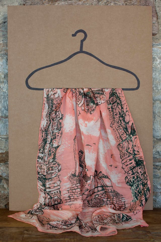 Eleanor O Rourke Made in Plymouth silk scarf