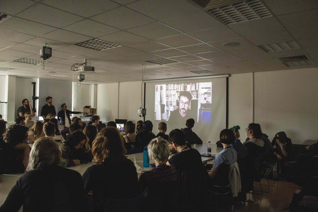 Plymouth College of Art students digitally meet Illuminate 2019 artist Xavi Bove