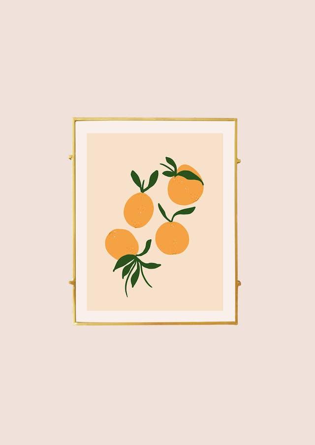 Lucy Ellis Oranges print