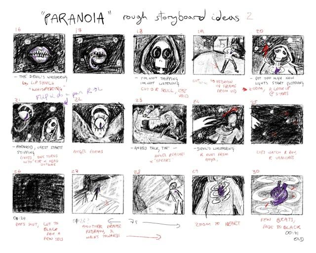 Mal Paranoia Storyboard