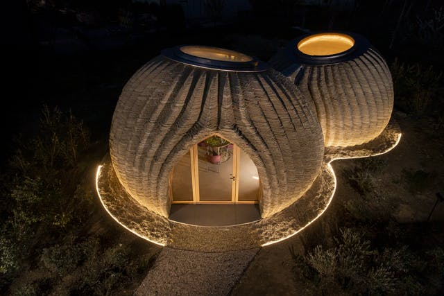 TECLA 3 D printed clay house credit WASP and Mario Cucinella Architects