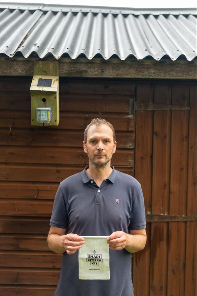 Local participant Tim Wornell with his Smart Citizen Kit Photo credit Ray Goodwin