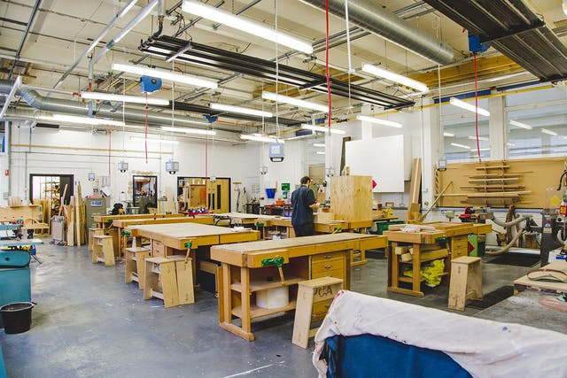 Plymouth College of Art wood workshop